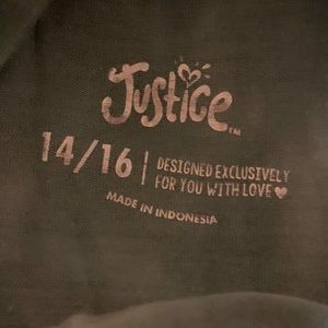 Justice top, excellent cond 14/16